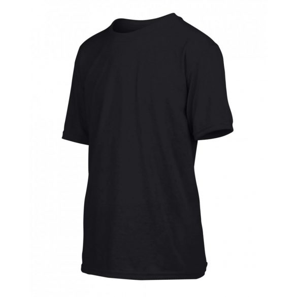 Gildan kereknyakú gyerek sportpóló, fekete