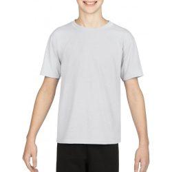 Gildan kereknyakú gyerek sportpóló, fehér