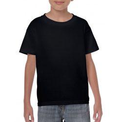 Gildan környakas gyerekpóló, fekete