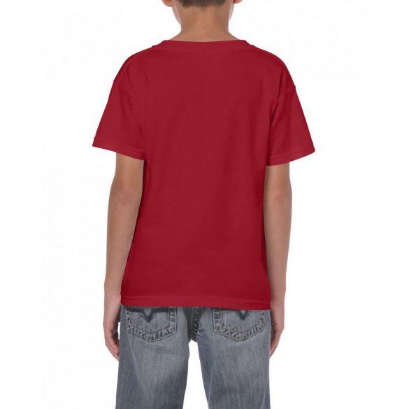 Gildan környakas gyerekpóló, bíborpiros