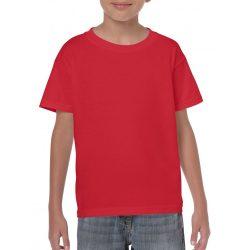 Gildan környakas gyerekpóló, piros