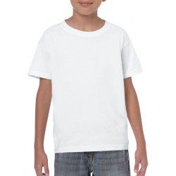 Gildan környakas gyerekpóló, fehér