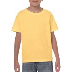 Gildan környakas gyerekpóló, yellow haze