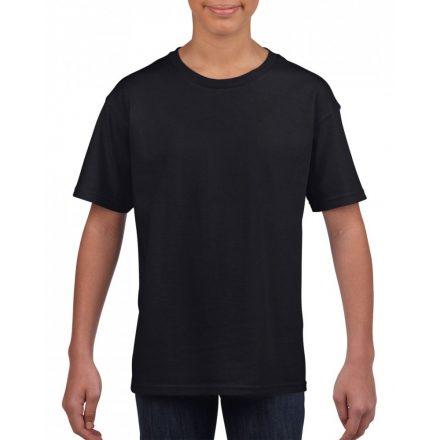 Softstyle Gildan gyerekpóló, fekete
