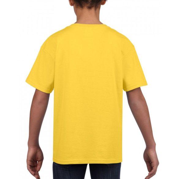 Softstyle Gildan gyerekpóló, sárga