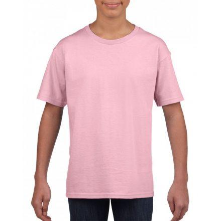 Softstyle Gildan gyerekpóló, rózsaszín