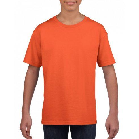 Softstyle Gildan gyerekpóló, narancs