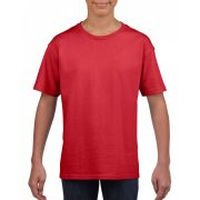 Softstyle Gildan gyerekpóló, piros
