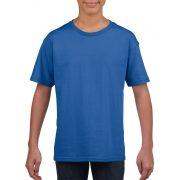 Softstyle Gildan gyerekpóló, kék
