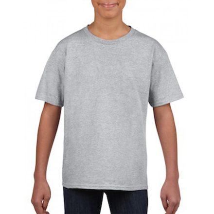 Softstyle Gildan gyerekpóló, sportszürke