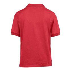 Gildan galléros gyerekpóló, piros