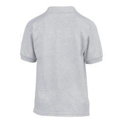 Gildan galléros gyerekpóló, sportszürke