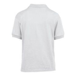 Gildan galléros gyerekpóló, fehér