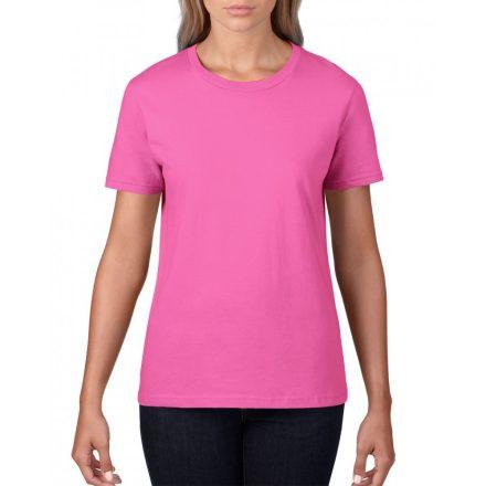 Gildan, női prémium pamut póló, azalea