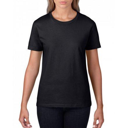 Gildan, női prémium pamut póló, fekete