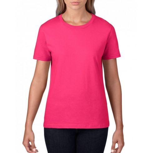 Gildan, női prémium pamut póló, heliconia