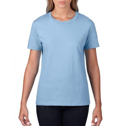 Gildan, női prémium pamut póló, világoskék