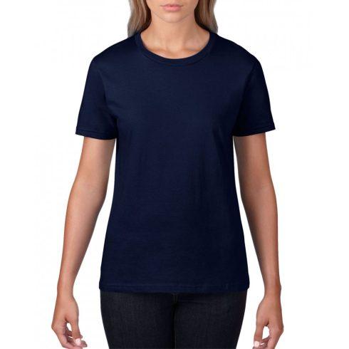Gildan, női prémium pamut póló, sötétkék