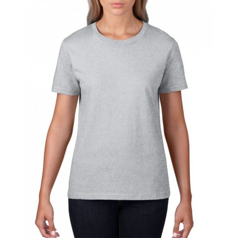 Gildan, női prémium pamut póló, sportszürke