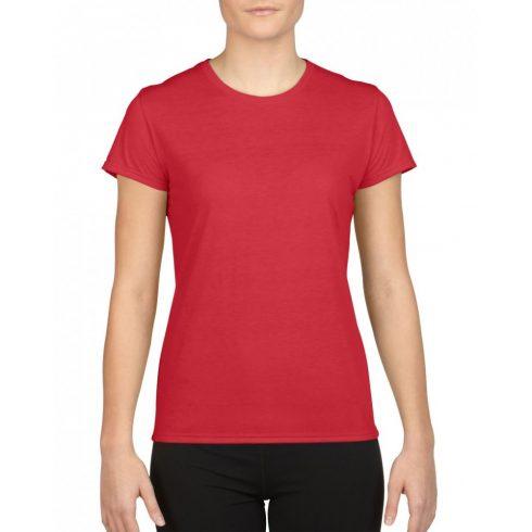 Gildan női sport póló, piros