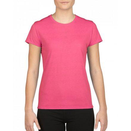 Gildan női sport póló, safety pink