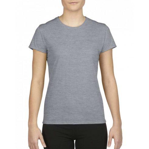 Gildan női sport póló, sportszürke