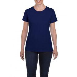 Gildan női környakas póló, cobalt