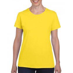 Gildan női környakas póló, daisy