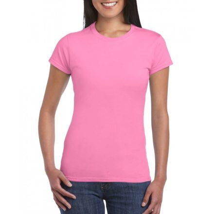 Softstyle Gildan női póló, azalea
