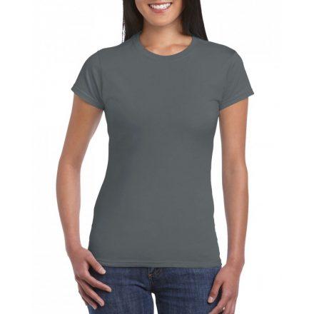 Softstyle Gildan női póló, faszénszürke