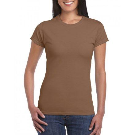 Softstyle Gildan női póló, chestnut