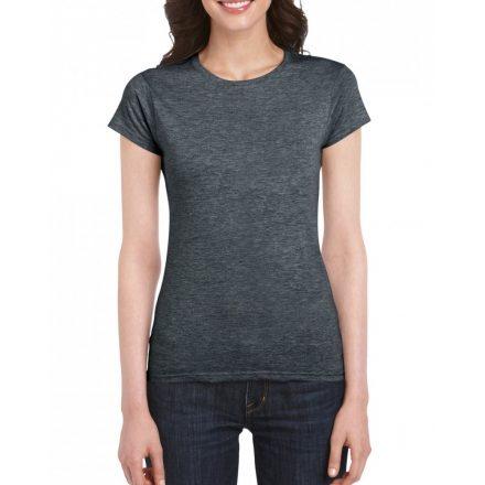 Softstyle Gildan női póló, dark heather