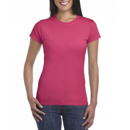 Softstyle Gildan női póló, heliconia