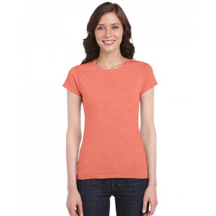 Softstyle Gildan női póló, heather orange