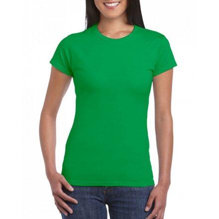 Softstyle Gildan női póló, írzöld