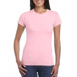 Softstyle Gildan női póló, rózsaszín
