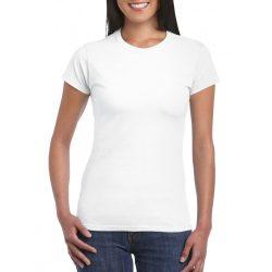 Softstyle Gildan női póló, fehér