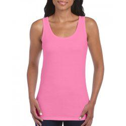 Gildan női ujjatlan póló, azalea