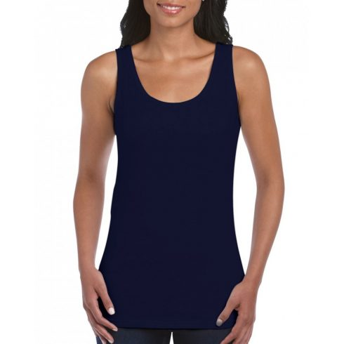 Gildan Női környakú trikó,Navy