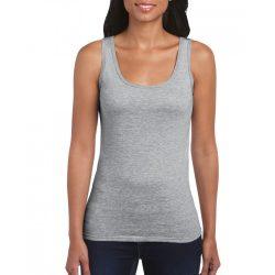 Gildan női ujjatlan póló, sportszürke
