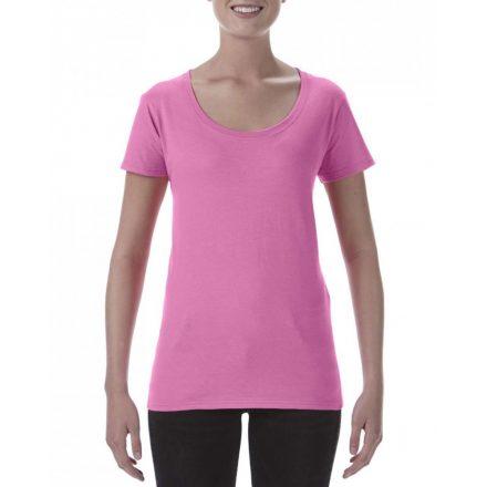 Lágy tapintásu Gildan női póló, azalea