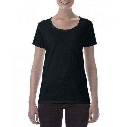 Lágy tapintásu Gildan női póló, fekete