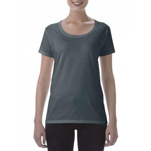 Lágy tapintásu Gildan női póló, dark heather
