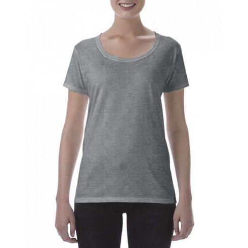 Lágy tapintásu Gildan női póló, graphite heather
