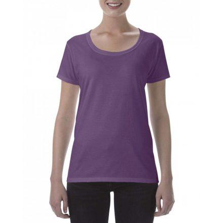 Lágy tapintásu Gildan női póló,  heather aubergine