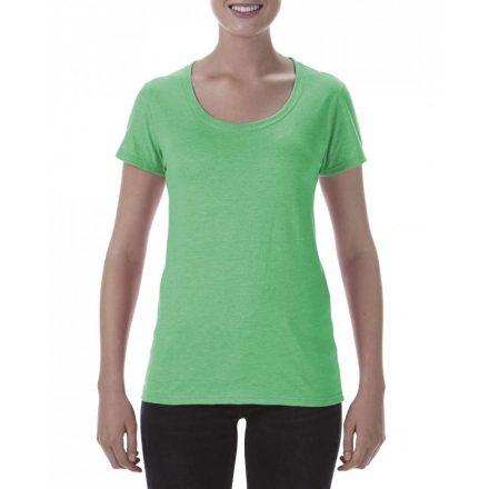 Lágy tapintásu Gildan női póló,  heather irish green