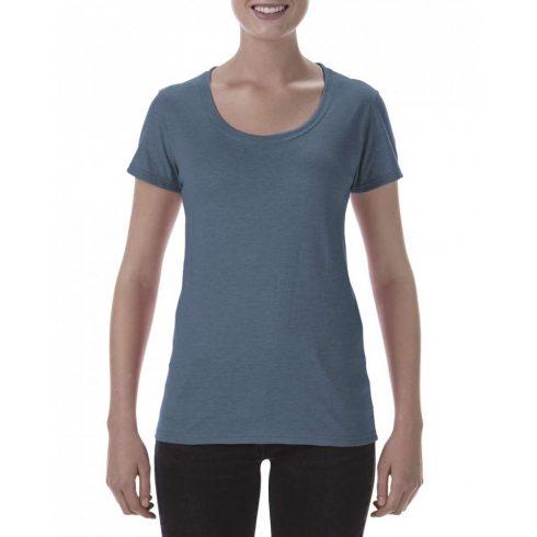Lágy tapintásu Gildan női póló,  heather navy