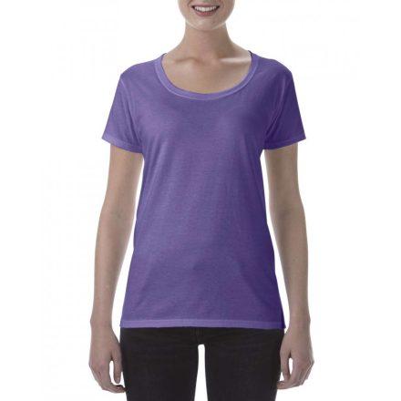 Lágy tapintásu Gildan női póló,  heather purple
