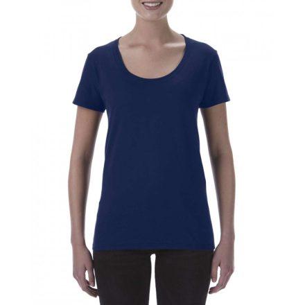 Lágy tapintásu Gildan női póló, sötétkék