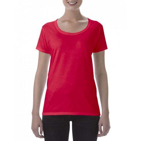 Lágy tapintásu Gildan női póló, piros